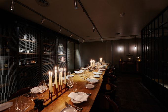 Atmospheric candlelit private dining Liverpool Street