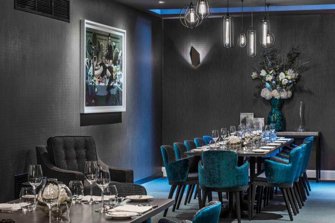 luxury restaurant at London's M Restaurant