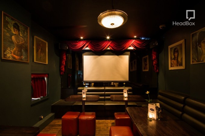 Small cinema room with a screen