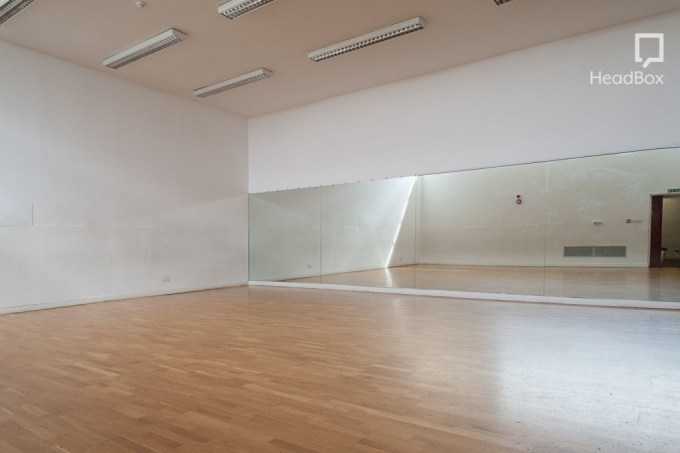 mirrored dance studio at oxford house
