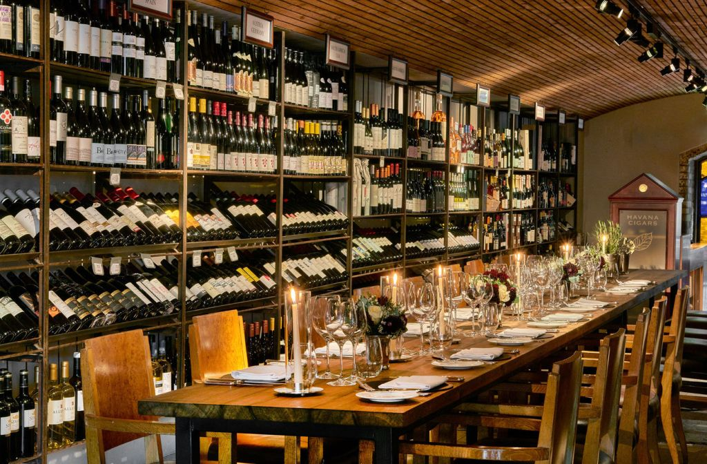 A private dining room in a wine cellar