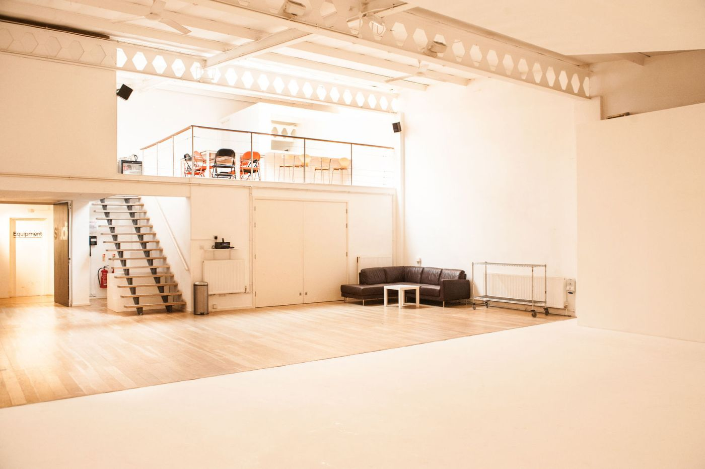 large square space at Jet Studios