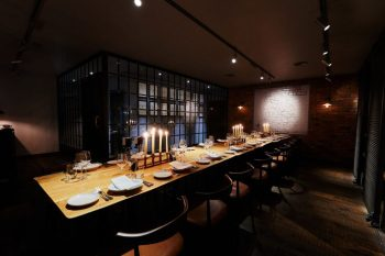 dim lit private dining rooms London