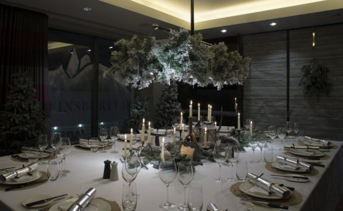 beautifully set private dining table