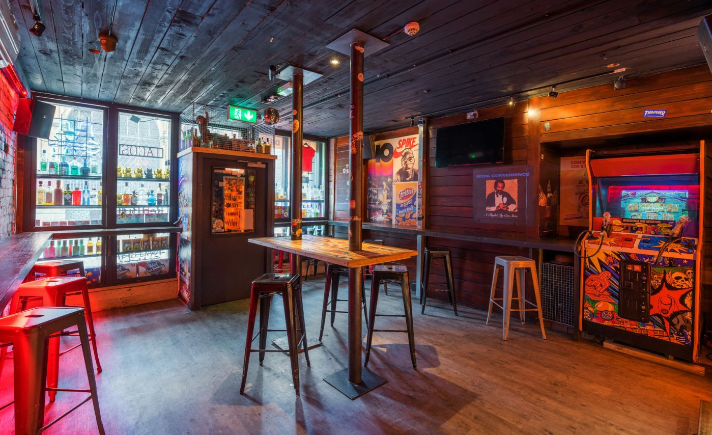 A quirky northern quarter restaurant with bar stools