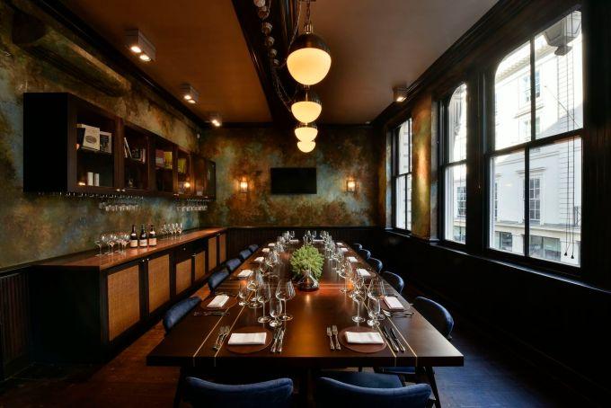 dim dining room at cabotte restaurant