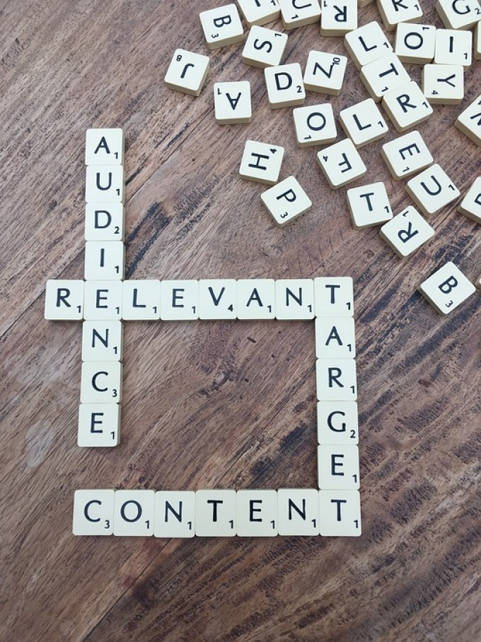 words reading 'audience', 'relevant', 'target' and 'content'
