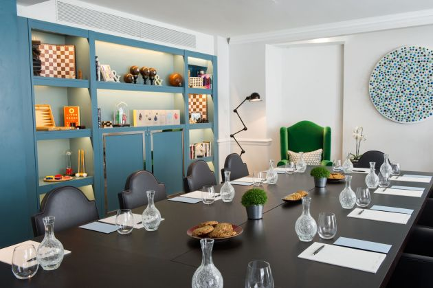 colourful meeting room at Ampersand Hotel