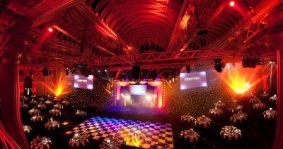 summer party venue with dance floor