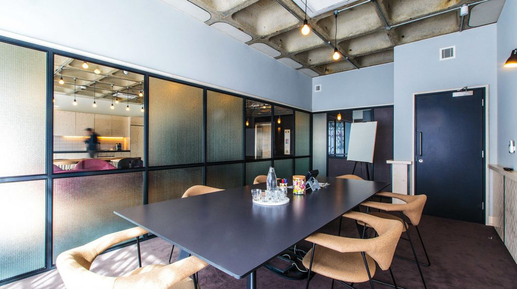 Bright, modern meeting room