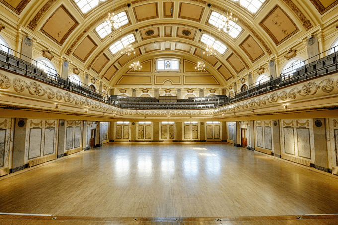 assembly hall at shoreditch town hall is a grand event space
