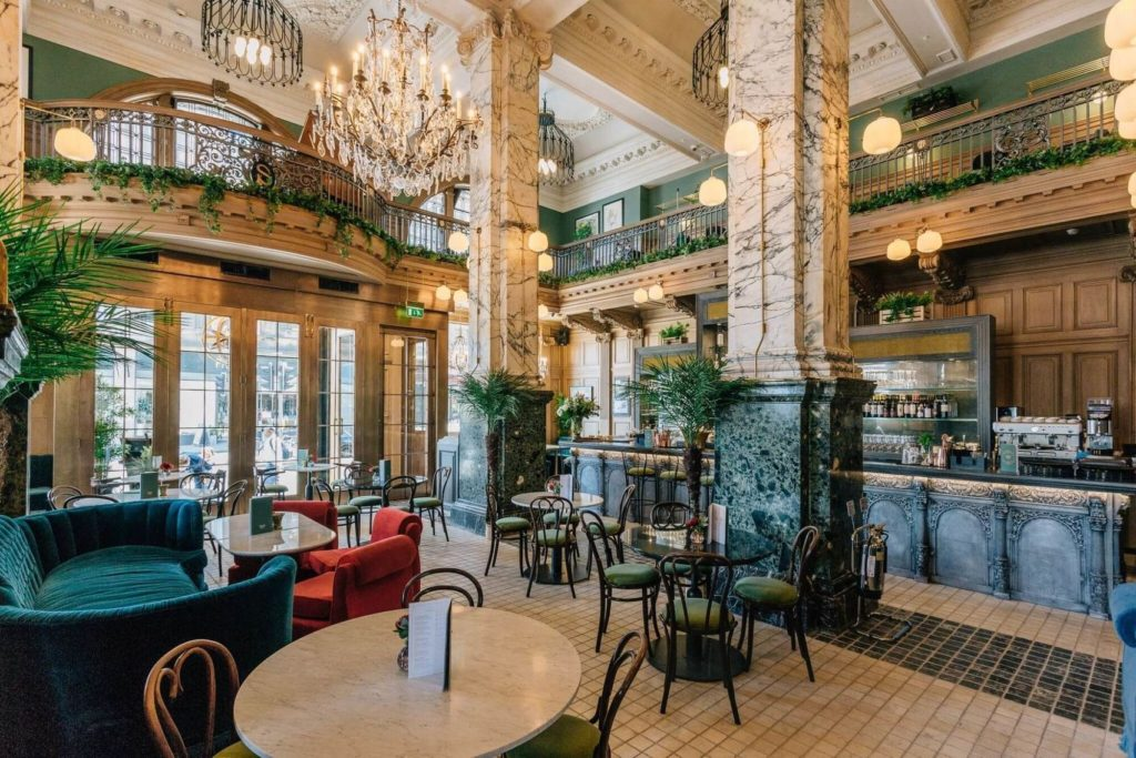 One of the best private party venues Edinburgh has to offer. A restaurant with high ceilings, a mezzanine level draped in greenery.