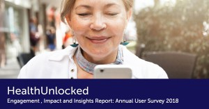 HealthUnlocked Engagement, Impact and Insights Report: Annual Users Survey 2018 cover image