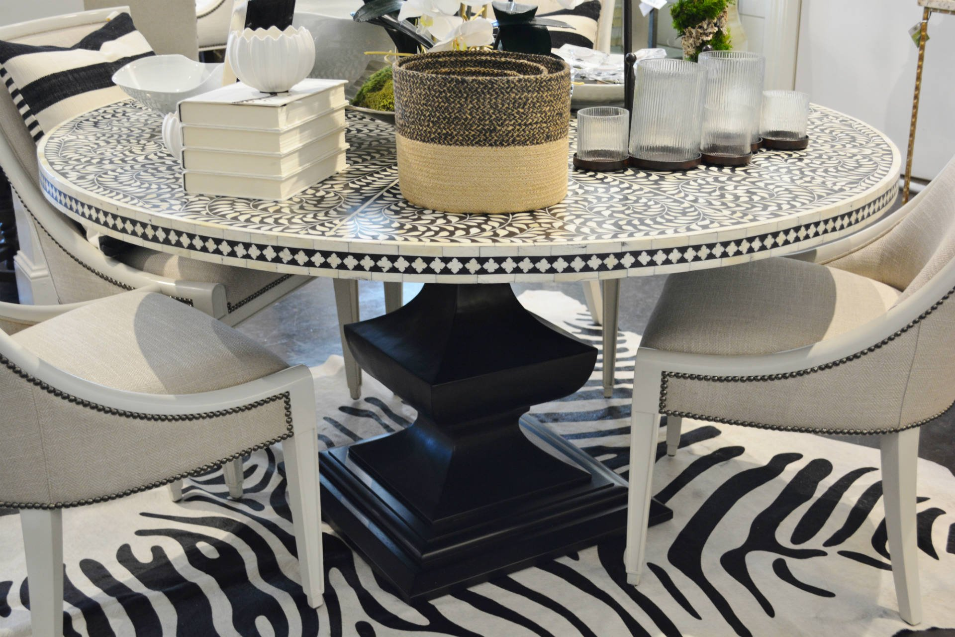 Whats New Wednesday Bone Inlay Dining Table Heather Scott Home Amp Design