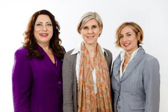v.l.n.r.: Liss Heller, Andrea Frais-Kölbl, Claudia Grell