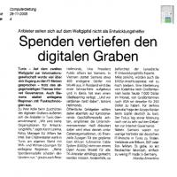Computerzeitung 28-11-2005 Spenden vertiefen den Digitalen Graben