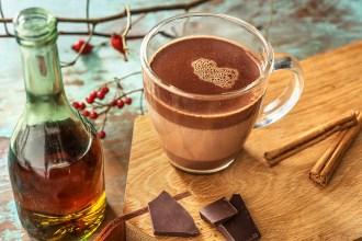 Warme chocolademelk met RUM