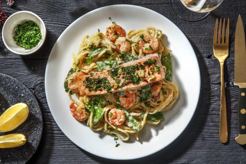 restaurant worthy dinner seafood pasta