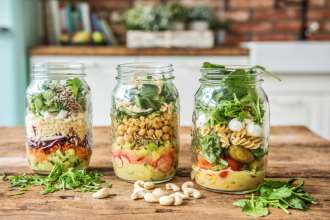 3 Simple Mason Jar Summer Salads