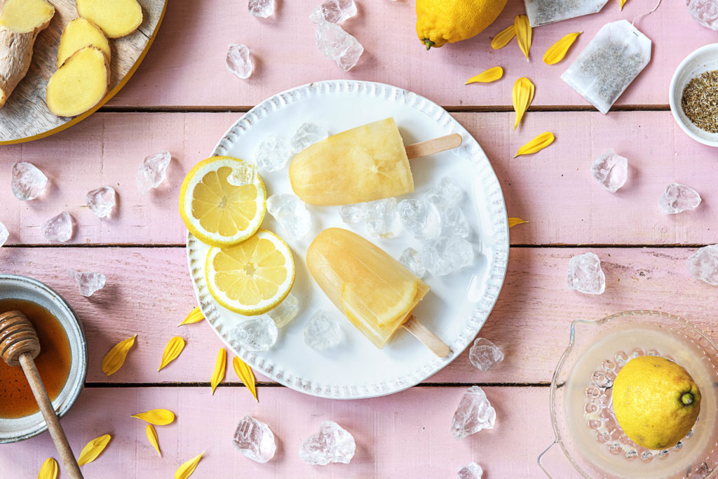 lemon and chamomile popsicle recipe
