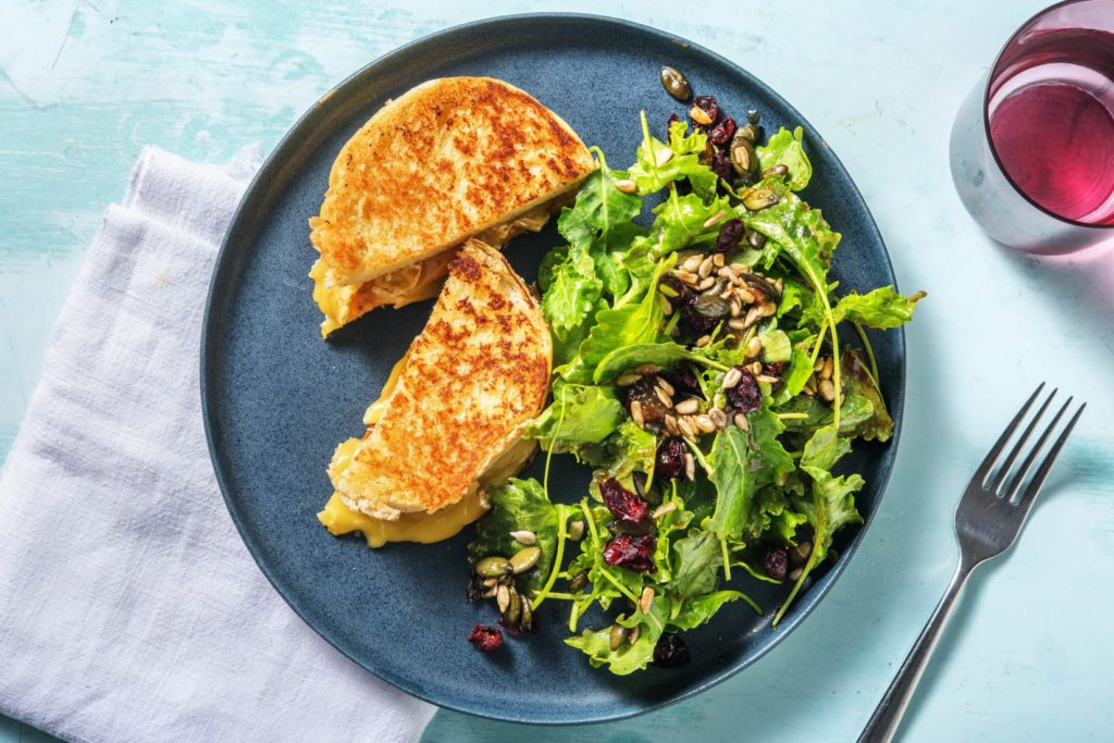 fig and brie grilled cheese dinner