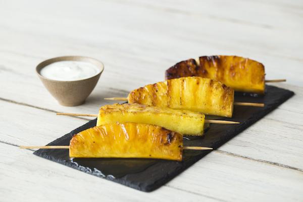 Ananas van de barbecue
