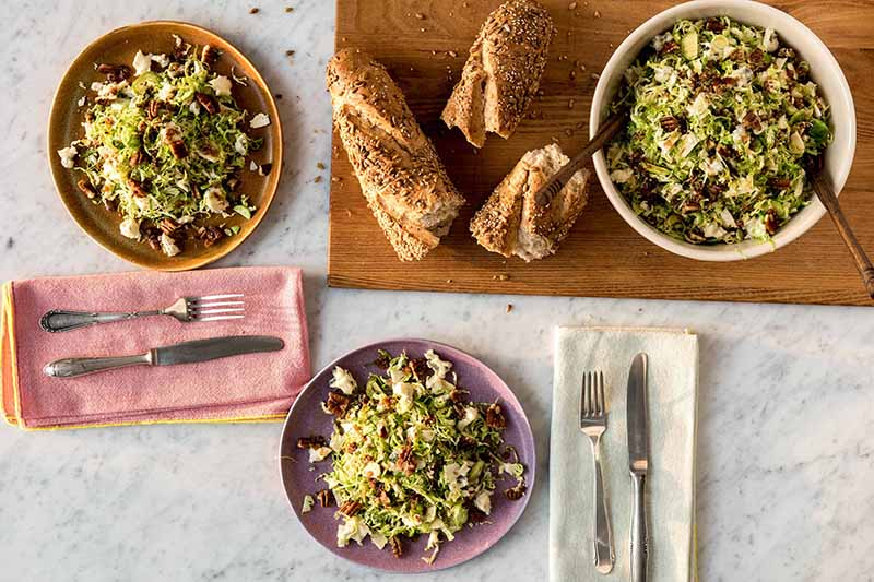 brussel sprout gorgonzola salad