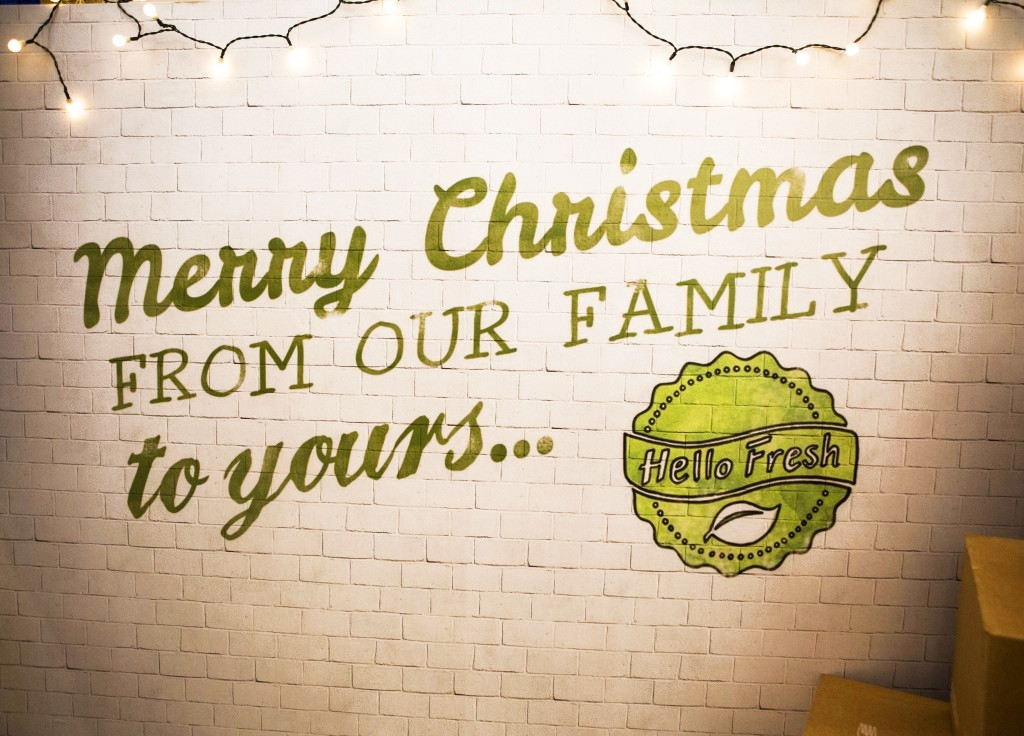 HelloFresh customer Christmas event