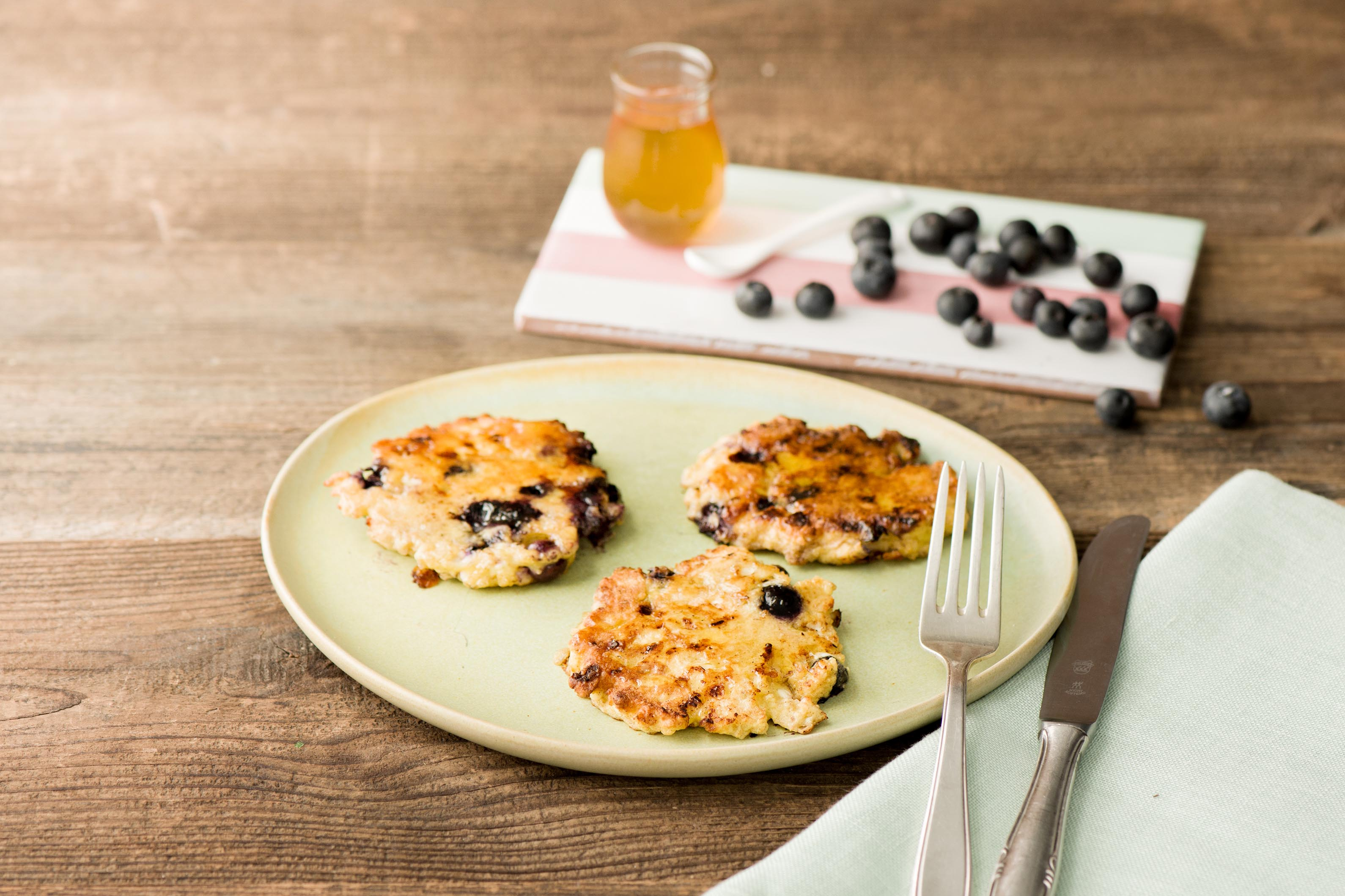 Victoria's Sirty Blueberry Pancakes