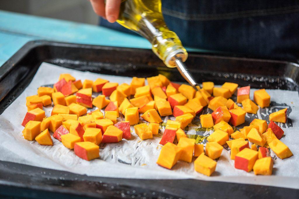 Herbstliche Kürbissuppe im Glas: Vorbereitung