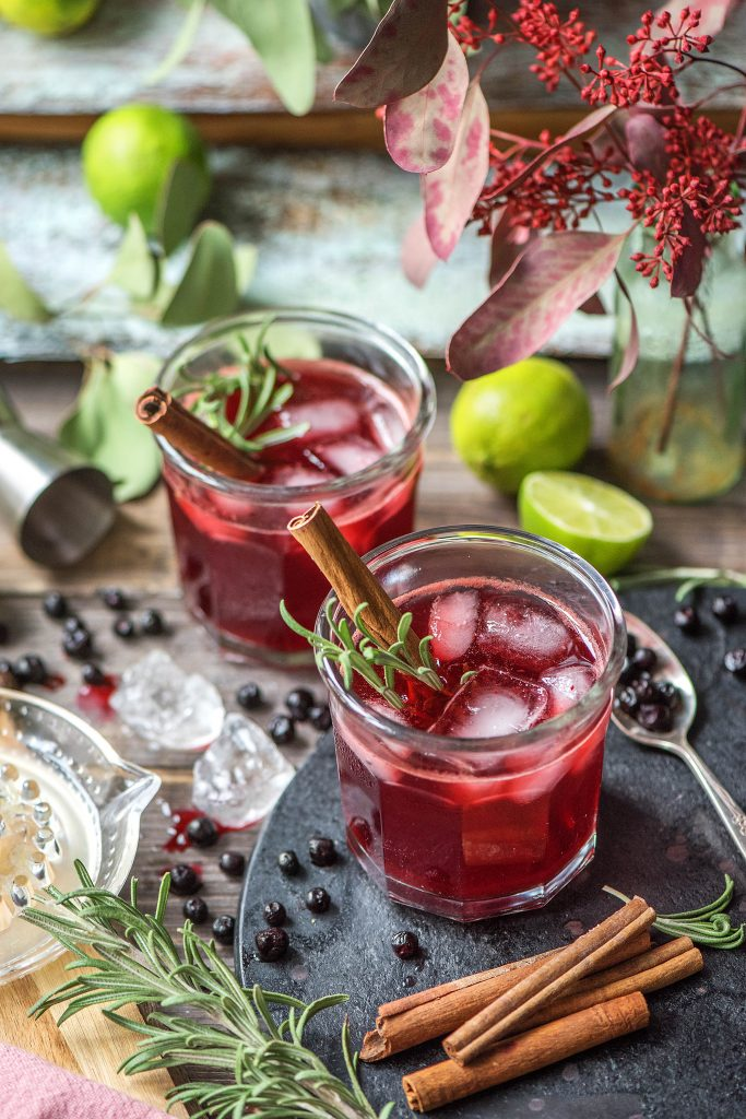 Getränke zu Weihnachten: Blaubeer-Zimt-Drink