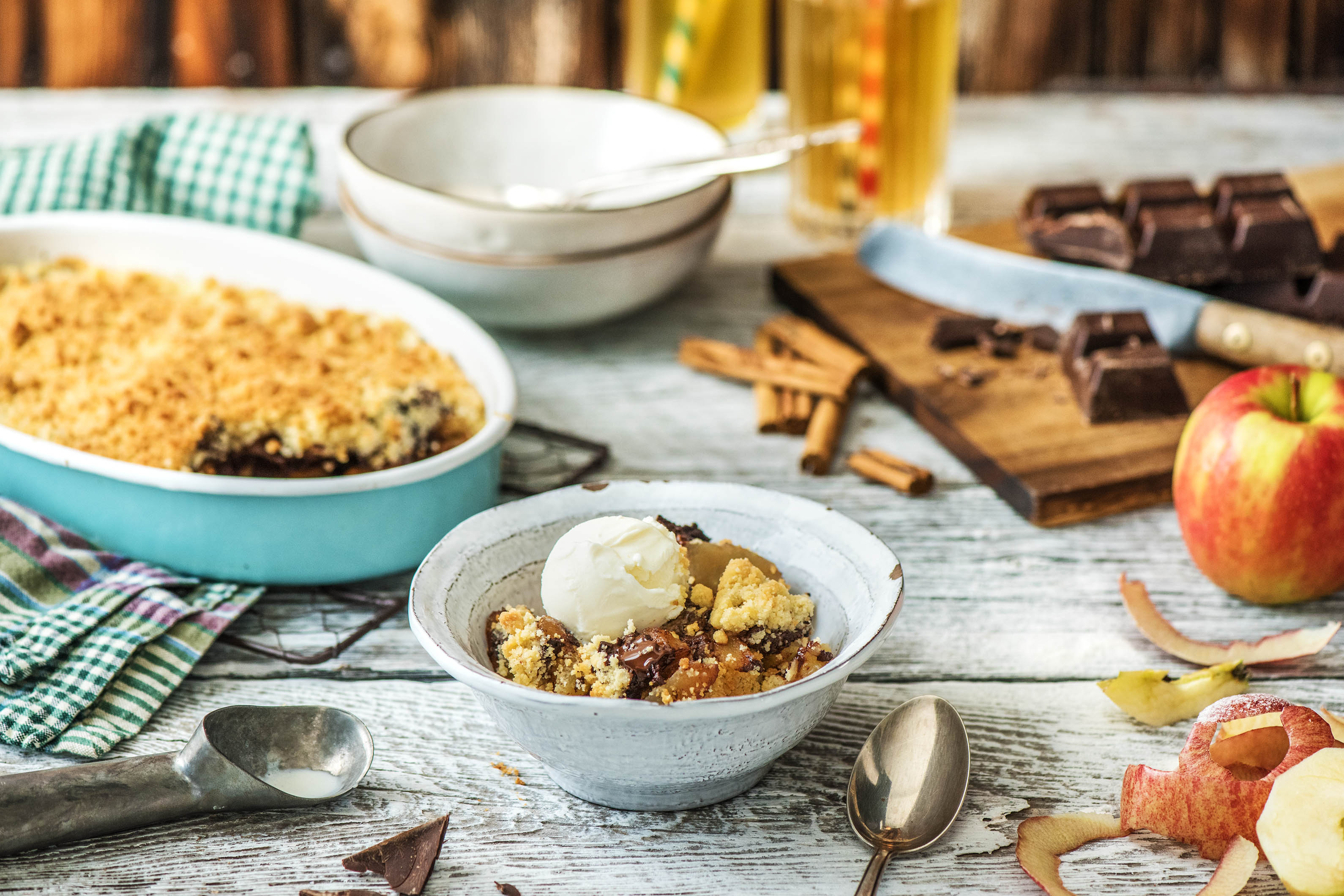 An Apple Crumble Recipe with an Indulgent Twist