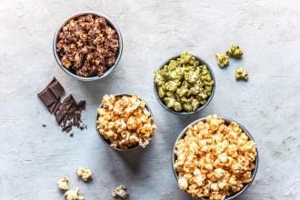 Popcorn Seasoning UK Favourites: Salted Caramel, Cinnamon, Matcha & Chocolate