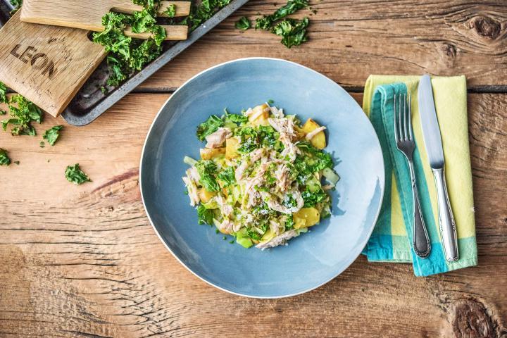 LEON's Warm Chicken Kale Sald
