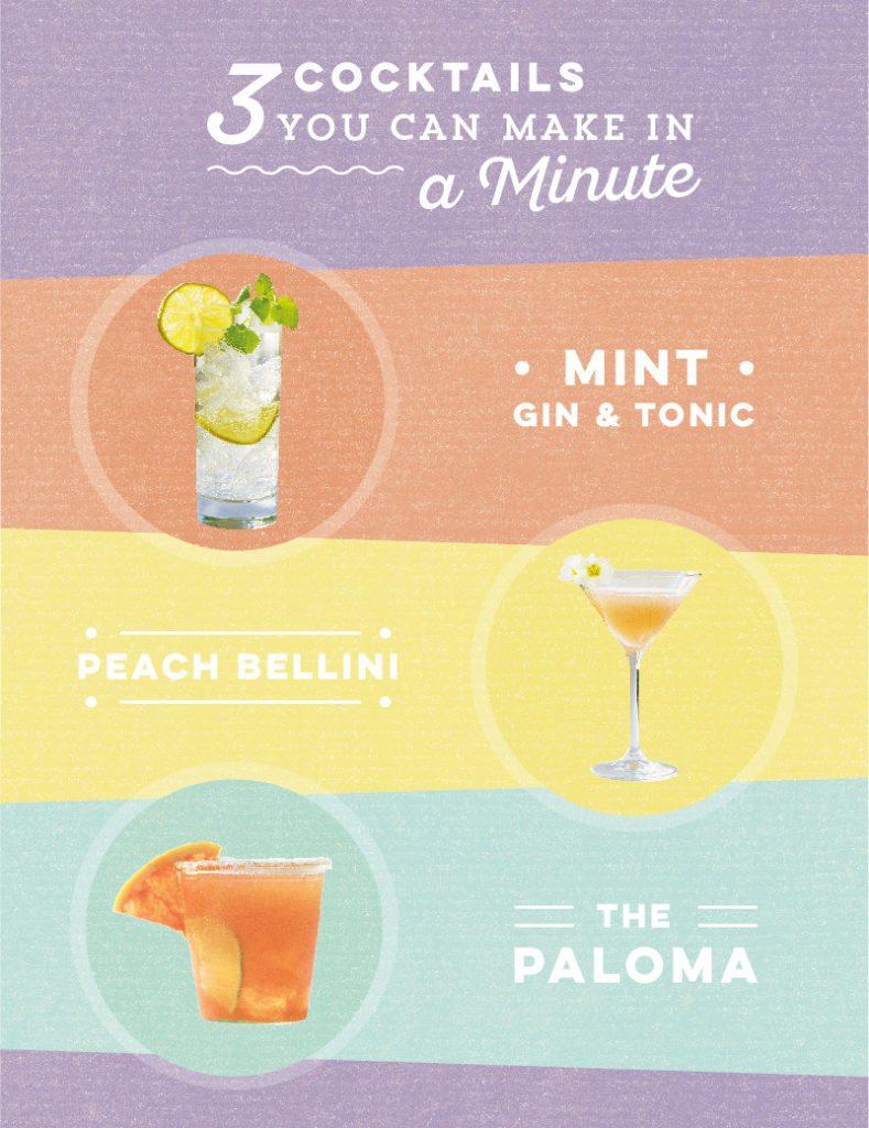 easy cocktails: 3 recipes