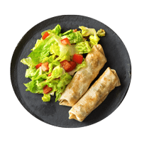 Baked Chicken Taquito with Zesty Salad