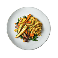 Roasted Chantenay Carrots with Lentil Dahl