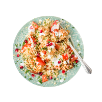 Harissa Chicken with Pomegranate Tabbouleh