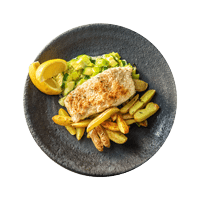 Herb Crusted Haddock with Creamy Leeks and Potatoes