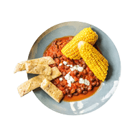 Mexican Spiced Corn-on-the-Cob with Black Bean Stew