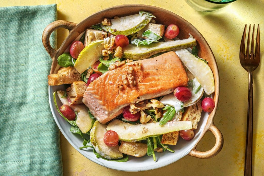 salmon waldorf salad healthy comfort food cravings