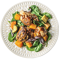 Baked Honey Mustard Chicken with Roast Vegetables