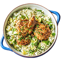 Mexican Chipotle Chicken with Verde Rice