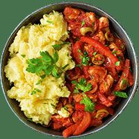 Spanish Chicken with Green Olives & Creamy Mash