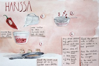 Make your own firey harissa paste with this recipe!