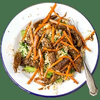 Saucy Teriyaki Beef with Brown Rice