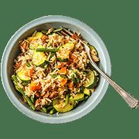 Spanish Rice Bowl with Chorizo and Veggies
