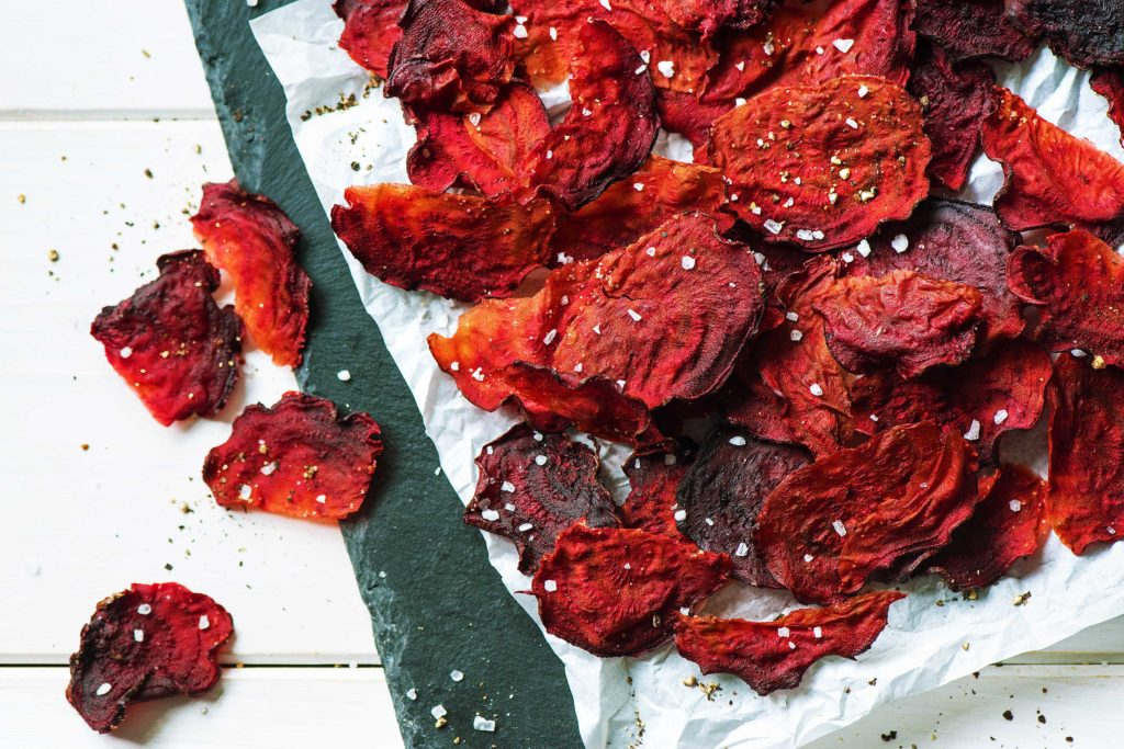 how to cook beets-recipes-roasted-beet-chips-HelloFresh