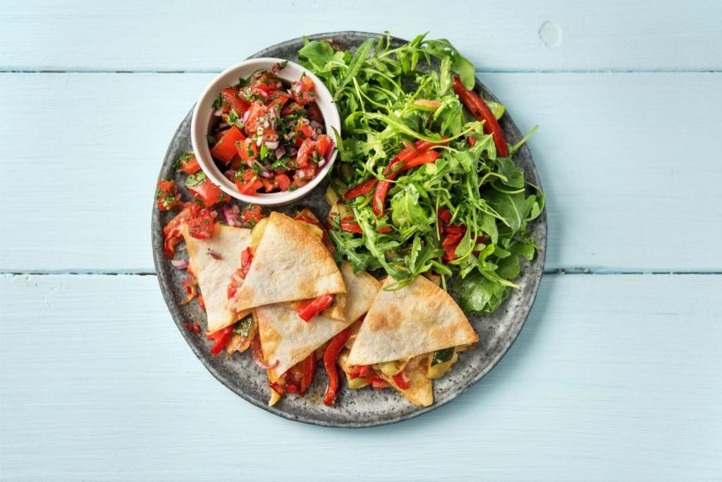 citrus recipes-roasted-vegetable-quesadillas-HelloFresh