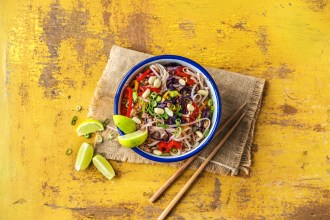 On The Menu Next Week: Thai-Spiced Pork and Rice Noodle Stir-Fry